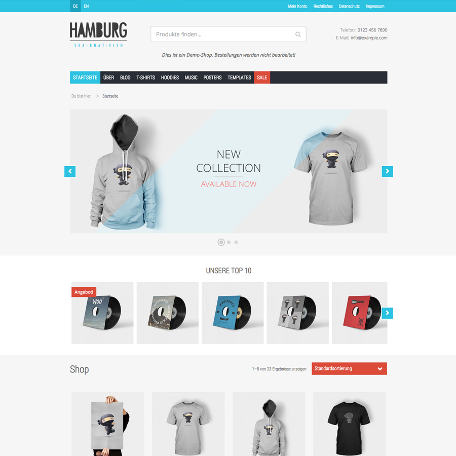 WordPress Theme Hamburg