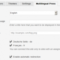 Multilingual Press Site Settings