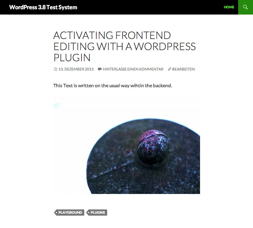 WordPress 3 8 Test System