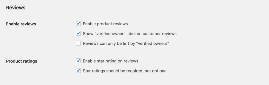 Reviews WooCommerce