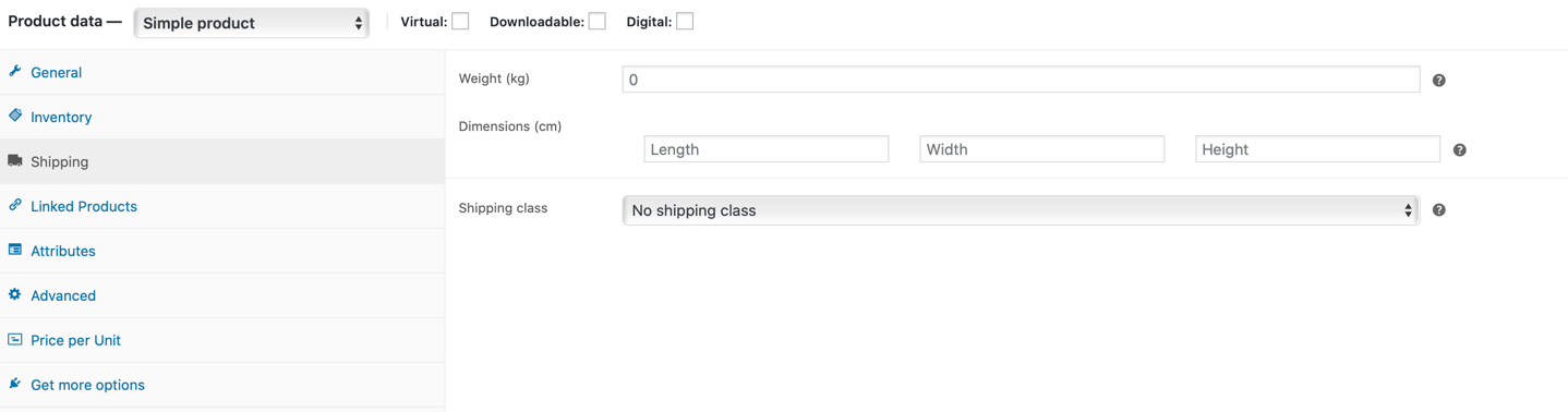 shipping WooCommerce