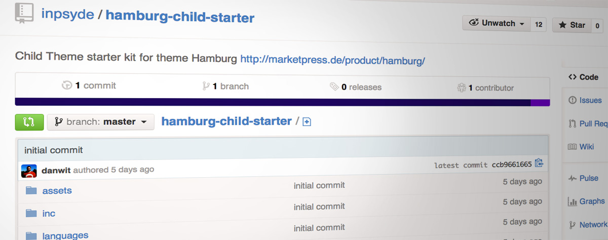Theme Hamburg: Starter kit for a Child Theme