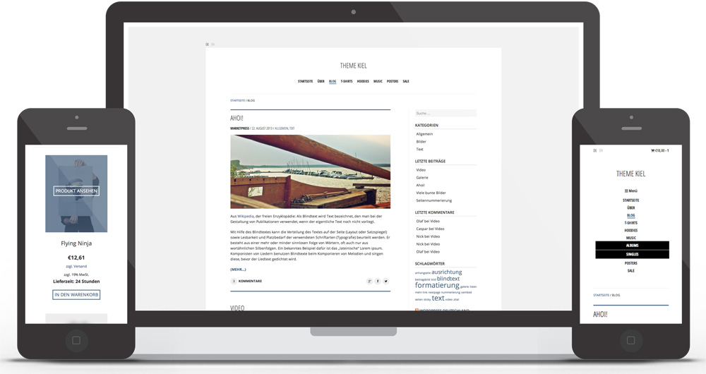 Kiel responsive WooCommerce Theme