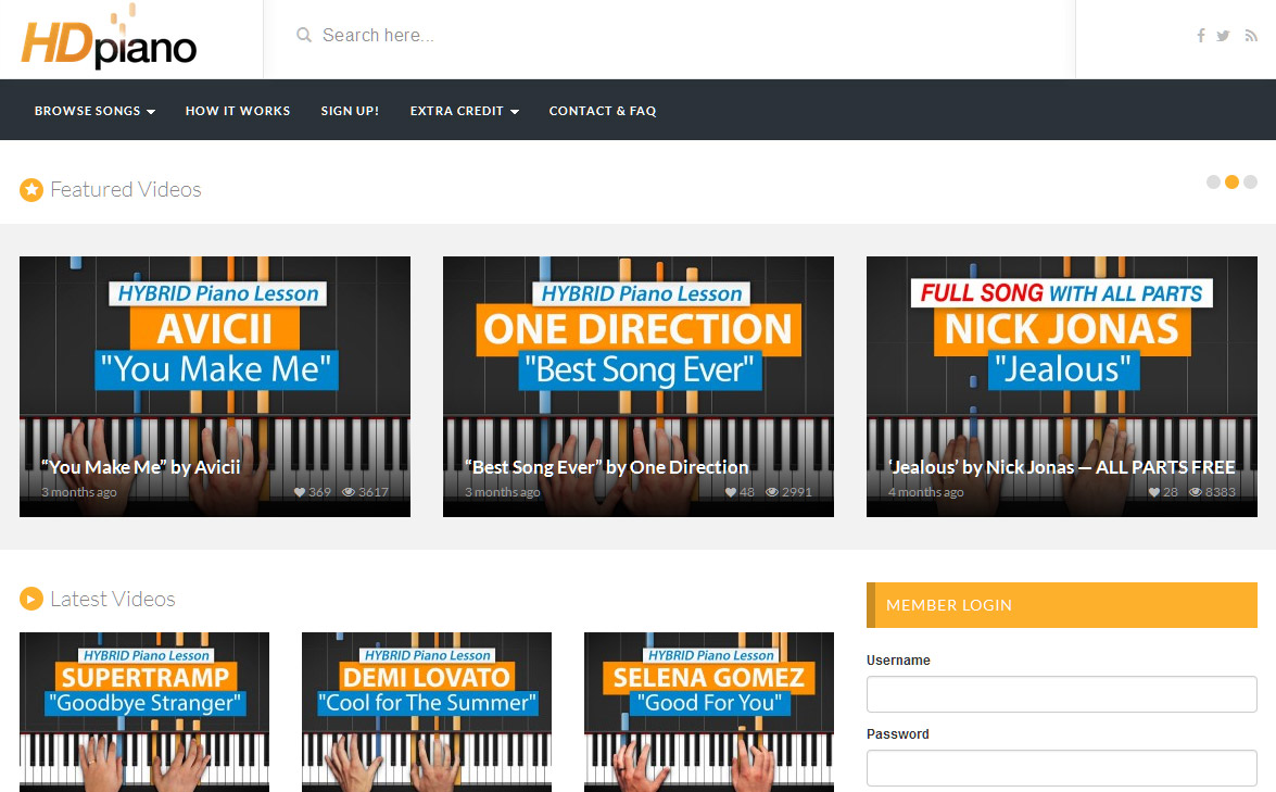 The online music course at HDPiano.com