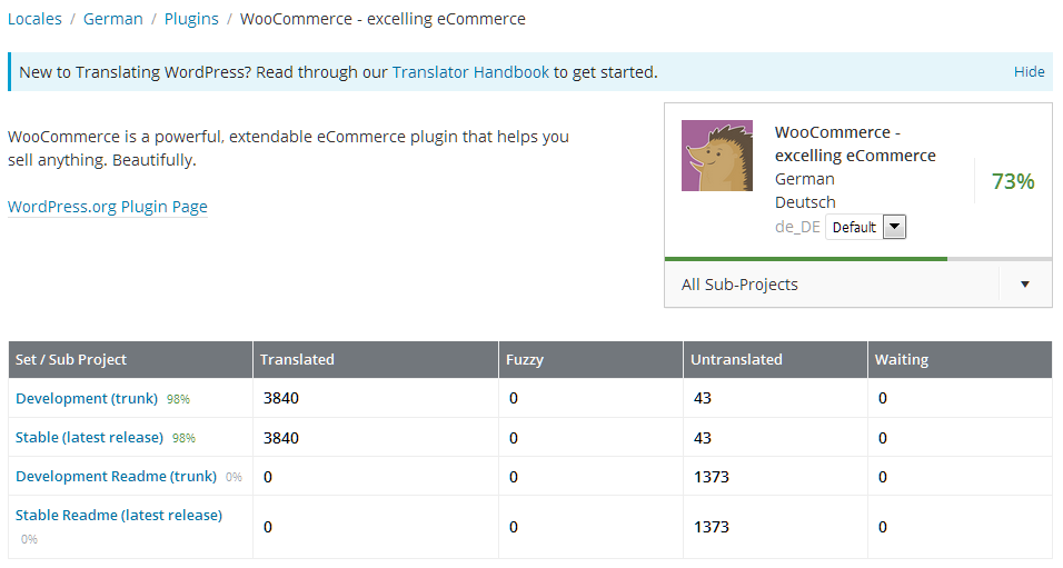 translate WooCommerce